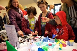 kids discovering 3-D printed objects