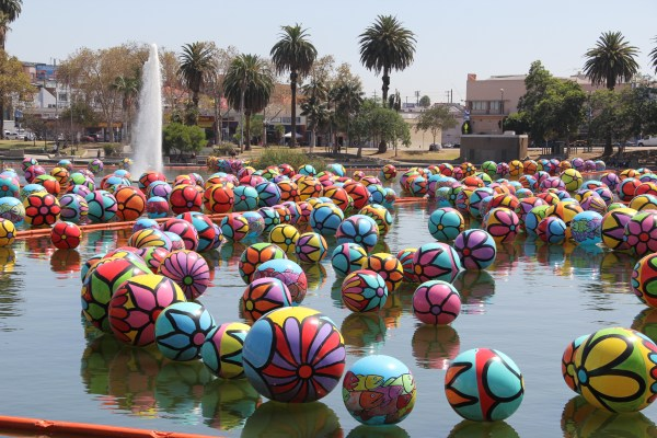 Macarthur Park Transformed Massive Art Installation