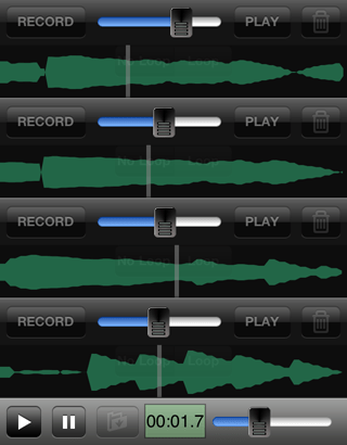 Multi Track Song Recorder 波形表示