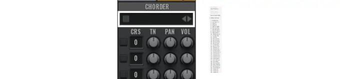 chorder-presets
