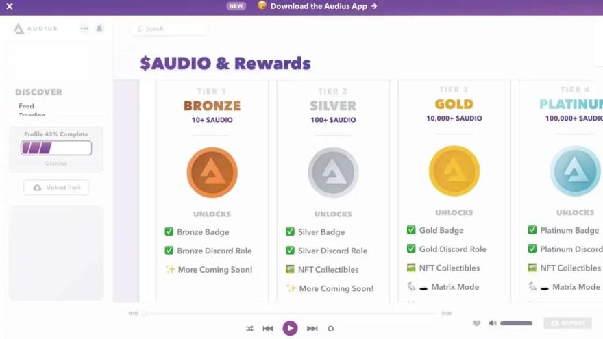 bronze-silver-gold-platinum-audius