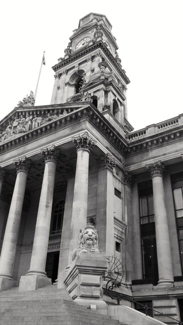 Portsmouth Guildhall (Lion and Tower) 1890