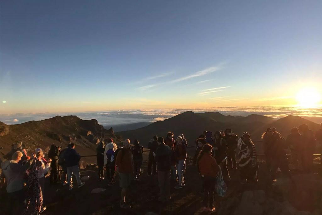 Maui Haleakala Sunrise Crowd