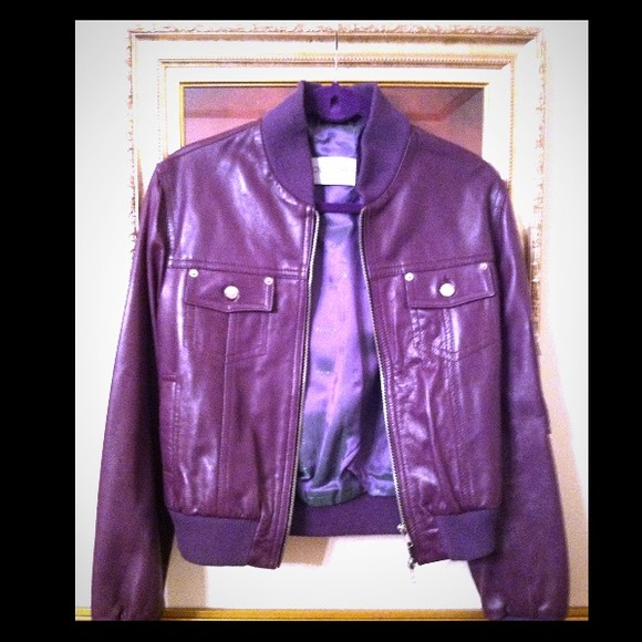 olivieri venezia purple leather