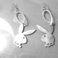 17% off Playboy Jewelry - Silver Playboy Bunny Earrings ...