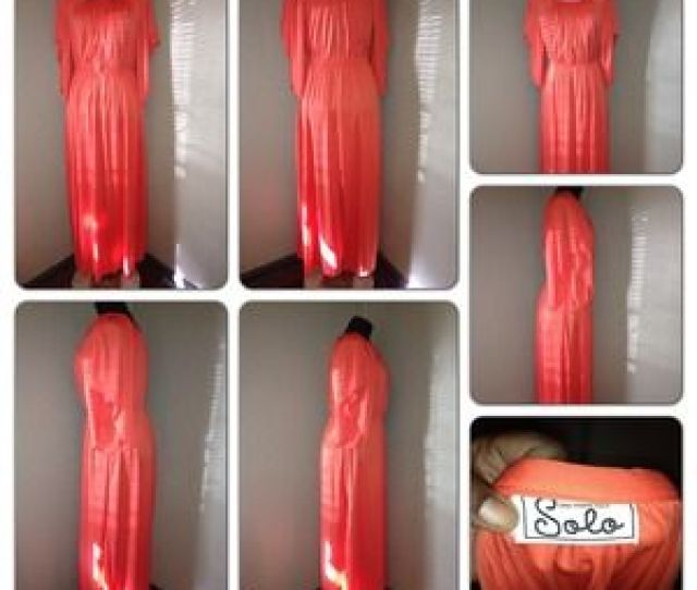 Solo Dresses Vintage Solo Long Maxi Dress Fits Busty Med Or Lrg
