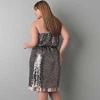 58% off DKNY Dresses & Skirts - Pewter Sequin Cocktail ...