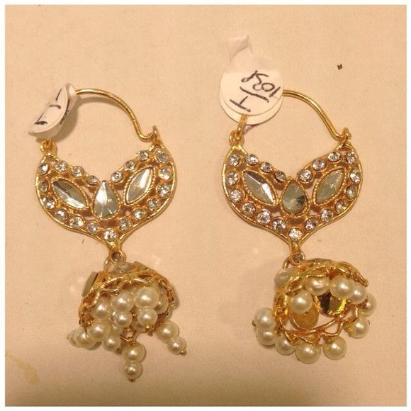 1 Gram Gold Earrings Indian Jewelry OS from Gurpreet's