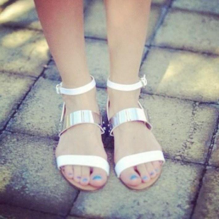 Image result for zara flat sandals with metallic straps