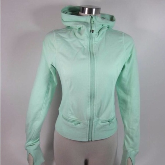 59 off lululemon athletica Jackets  Blazers  Lululemon Mint Green Run Jacket with Hoodie from