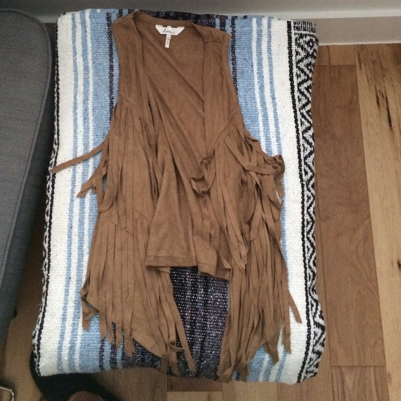 70 off Kirra Outerwear  faux suede fringe vest from Annas closet on Poshmark