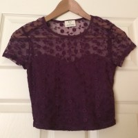 71% off Urban Outfitters Tops - Maroon lace crop top from ...