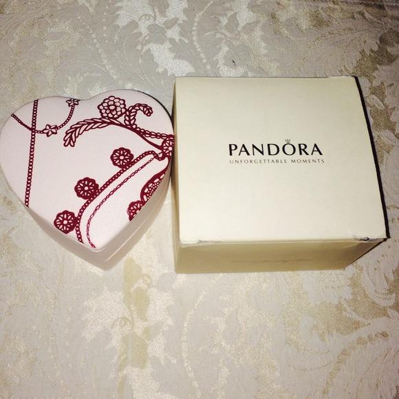 Pandora REDUCED Heart Shaped Pandora Jewelry Box From