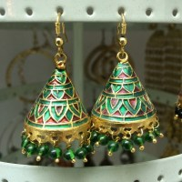 Indian inspired enamel earrings OS from Nandini's closet ...