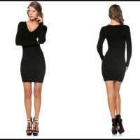 84% off Dresses & Skirts - Black tight fit ribbed mini ...