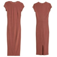 2% off H&M Dresses & Skirts - Fitted, calf-length dress in ...