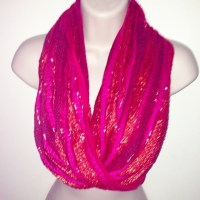 Charming Charlie - Pink sparkly infinity scarf from ...