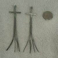 58% off Nasty Gal Jewelry - Long cross earrings from ...