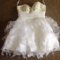 45% off may queen Dresses & Skirts - White fluffy formal ...