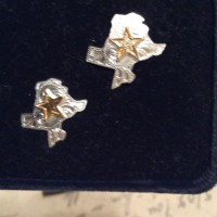 53% off Montana silversmiths Jewelry - Texas state shaped ...