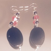 77% off Jewelry - Black and red chandelier earrings from ...