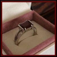 NVC Jewelry   Sterling Silver Red Garnet Ring   Poshmark