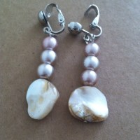 33% off Jewelry - Champagne pearl Clip-on Earrings from ...