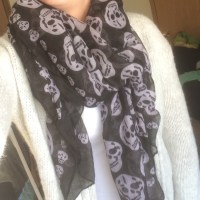 44% off Wet Seal Accessories - Skull scarf from Kayla's ...
