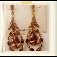 versona - Bronze gold ear drop earrings. from Layla's ...