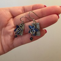 Jody Coyote - Jody Coyote Blue Star Earrings from ...