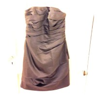 David's Bridal - Pewter silk cocktail dress from Tara's ...
