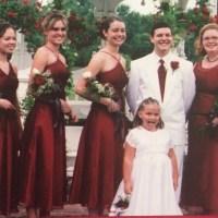 David's Bridal Dresses | Bridesmaid Dress Candy Apple Red ...
