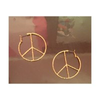 64% off Claire's Jewelry - Peace sign hoop earrings from ...
