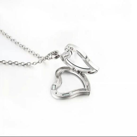BOGO Heart Moon Silver Locket Origami Owl OS from Melissa