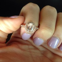 33% off Jewelry - 14k rose gold pink morganite ring from ...