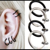 Black clip on hoop earring OS from !! gabby's closet on ...