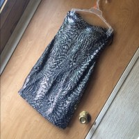 69% off Dresses & Skirts - Body fitted black and silver ...