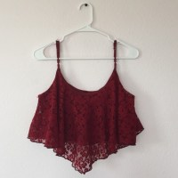 60% off Full Tilt Tops - Maroon lace crop top from Brinley ...