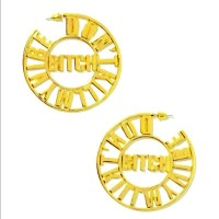 44% off Nasty Gal Jewelry - Gold statement earrings ...