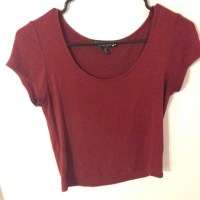 53% off Forever 21 Tops - Maroon Crop Top from Lindsey's ...