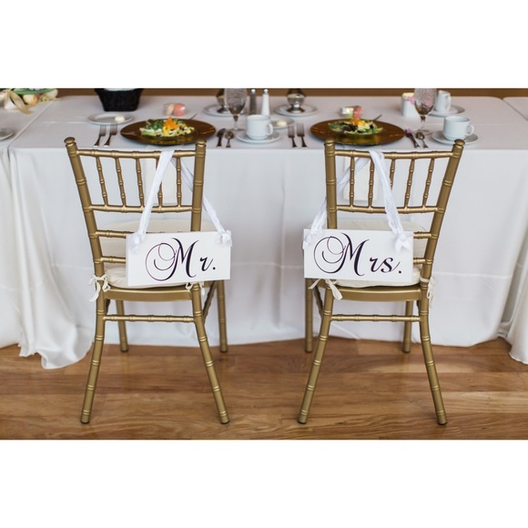 chair accessories for weddings ashley furniture kitchen table and chairs mr mrs wedding signs decor poshmark