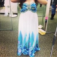 65% off Cachet Dresses & Skirts - Multi Colored Prom Dress ...