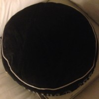 Juicy Couture - Juicy Couture Black Round Velour Dog Bed ...