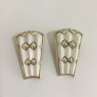 Vintage - Vintage White Plastic 80's Earrings from Phoenix ...
