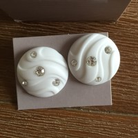 72% off Avon Jewelry - Vintage Avon white lights pierced ...