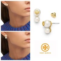 59% off Tory Burch Jewelry - Tory Burch Evie Double Pearl ...