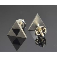 Hand made - Triforce Earrings Zelda Link SS.925 from Dave ...
