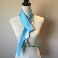 55% off GAP Accessories - SALE Blue Silk Two Sided ...