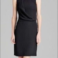 Nwt Theory Black Sleeveless Wool Dress Size 0 | Poshmark