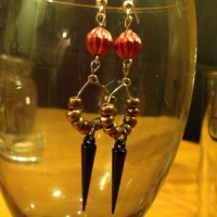Handcrafted black and red earrings. OS from Jenny's closet ...